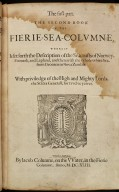 The first part the second book of the Fierie-sea-columne, [1 of 1]