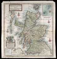 A New and Correct Map of Scotland & the Isles. Containing all ye Cities, Market Towns, Boroughs &c. the principal Roads, with ye Computed Miles from Town to Town. [1 of 1]