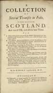 A collection of several treatises in folio, : concerning Scotland, as it was of old, and also in later times. [02 of 21]