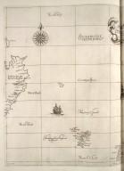 Questa carta contine l'isolle di Ferro è di Shutland con la Noruegia settentrionale : la longitudine comincia da l'isola di Picho d'Asores di Europa Carta XXXXV [2 of 2]