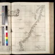 Questa carta contine l'isolle di Ferro è di Shutland con la Noruegia settentrionale : la longitudine comincia da l'isola di Picho d'Asores di Europa Carta XXXXV [1 of 2]