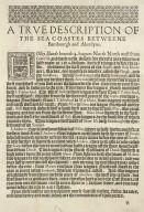 A description of the coastes betweene Bamburgh & Aberdeine wherof Edenburgh is the chiefest marttowne. [2 of 2]