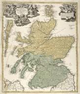 Magnae Britannia : pars septentrionalis qua regnum Scotia in suas partes et subja centes insulas divisum / Accurata tabula ex archetypo Vischeriano desumta exhibetur imatatore Iohan. Bapt. Homanno, Noribergae. [1 of 1]
