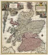 Nova et accurata totius Regni Scotiae, secundum omnes provincias et adjacentes insulas, [1 of 1]