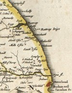 [Detail from:] Duo Vicecomitatus Aberdonia & Banfia, una cum Regionibus & terrarum tractibus sub iis comprehensis : A description of the two Shyres Aberdene and Banf, ... [Detail of the coast from Peterhead to north of Rattray] [1 of 1]