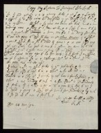 [Copy, in shorthand, of letter from Bishop Robert Keith to Robert? Blackwell, 28 November 1752] [1 of 2]