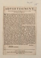 Advertisement, anent the surveying of all the Shires of Scotland, and making new mapps of it [...] [1 of 1]