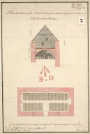 Plan & section of the powder magazine as it is at present, containing 684 barrills of powder [1 of 1]