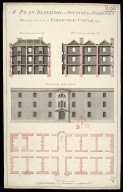 A Plan, elevation and sections of the barracks design'd to be built in Edinburgh Castle 1755 [1 of 1]