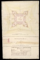 A Plan of Fort Augustus in its present state with a designd fossee & cover'd way [1 of 1]
