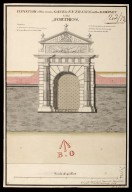 Elevation of the main gate or entrance on the rampart to the fortress [proposed Fort George on Oliver's Fort site, Inverness] [1746] [1 of 1]