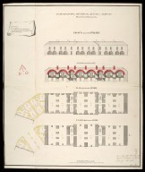 Plan, elevation & section of the arsenal & armoury : marked no. 4 in the general plan [proposed Fort George on Oliver's Fort site, Inverness] [1746] [1 of 1]