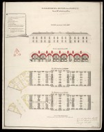 Plans, elevation & section of the hospital : marked no. 5 in the general plan [proposed Fort George on Oliver's Fort site, Inverness] [1746] [1 of 1]