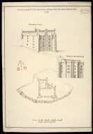 Plan and Elevations of the Castle of Glengary [i.e. Glengarry] [between 1712 and 1716] [copy] 1741 [1 of 1]