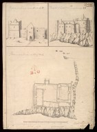 Plann of Castle Dwart in the Island of Moll [i.e. Mull] : prospect of the front of Castle Dwart [i.e. Duart] CD; prospect of Castle Dwart from the sea markt AB [1 of 1]