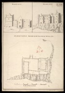 Plan of Castle Dwart [i.e. Duart] in the Island of Mull [between 1712 and 1716] [copy] 1741 : elevation at C,D; elevation at A,B [1 of 1]