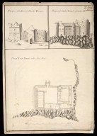 Plan of Castle Douart [i.e. Duart] in the Isle of Mull [between 1712 and 1716] [copied between 1755 and 1759] : prospect of the front of Castle Douart; prospect of Castle Douart from the sea [1 of 1]