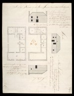 A Plan & elevation of Mr Stewart's house, the Barrack-master at Fort Augustus [1 of 1]