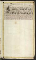 Sir John Rutherfurd of the Ilk His Book 1724 [01 of 24]