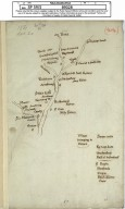 [1) Rough sketch of Liddesdale showing families resident there, 20 Sept. 1561]. [2 of 2]