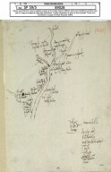 [1) Rough sketch of Liddesdale showing families resident there, 20 Sept. 1561]. [1 of 2]