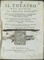 Il Theatro del mondo di Abraamo Ortelio. [...] [1 of 1]