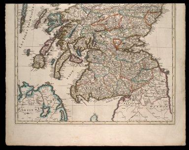 Le Royaume D'Ecosse Divise en Parties Septentrionale & Meridionale; Subdivise en Provinces, Comtez &c. [1 of 2]