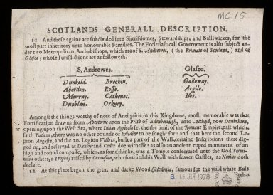 Part of Scotland it is called of the inhabitance Stra:naverne with his borderers [2 of 2]