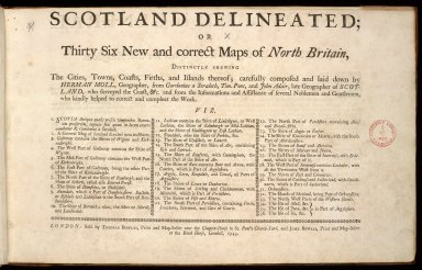 Scotland delineated; or thirty six new and correct maps of North Britain, ... [1 of 1]