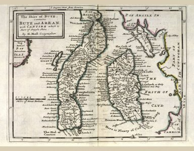 The Shire of Bute, contains Bute and Arran. with Cantire which is Part of Argyle Shire. [1 of 1]