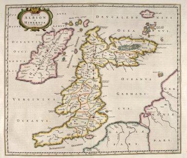 Insululae Albion et Hibernia cum minoribus adjacentibus [1 of 3]