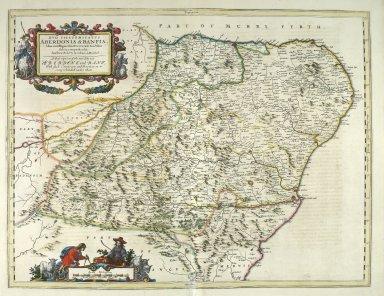 DVO VICECOMITATVS ABERDONIA & BANFIA, Una cum Regionibus & terrarum tractibus sub iis comprehensis. Auctore Roberto Gordonio a Straloch. [2 of 3]