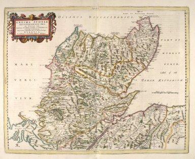 EXTIMA SCOTIAE SEPTENTRIONALIS ORA, ubi Provinciae sunt ROSSIA, SVTHERLANDIA, CATHNESIA, STRATH-NAVERNIAE, [2 of 3]