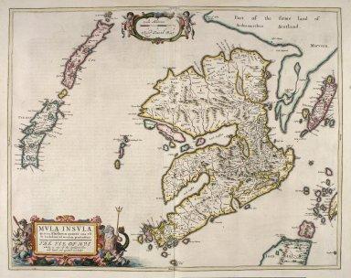 Mula Insula, quae ex Aebudarum numero una est, et Lochabriae ad occasum praetenditur. [2 of 2]