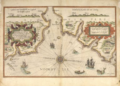 Beschrijvinge van een deel vann Schottlandt van Bambourg tot Aberdein : daer Edenburg de princepaele Coepstat in is, So hem tlant daer 'bthoont, beneffens 2 eylende [1 of 2]