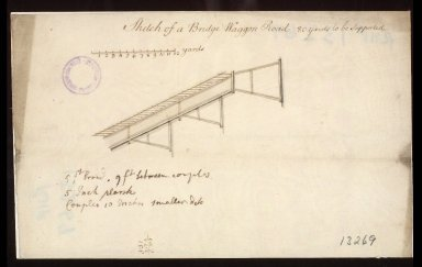 Sketch of a Bridge Waggon [i.e. wagon] Road. [1 of 1]