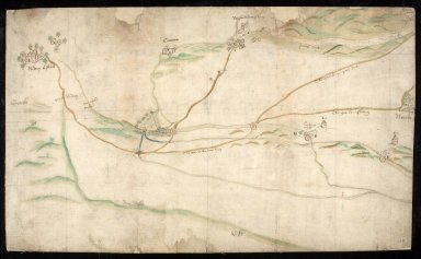 [Sketch plan of lands south of Arthur's Seat between Niddrie and Restalrig Houses, 1563] [1 of 1]