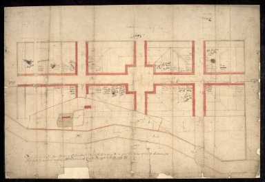 The plann of the New Towne of Callender [...] Belonging to his grace the Duke of Perth [1 of 1]