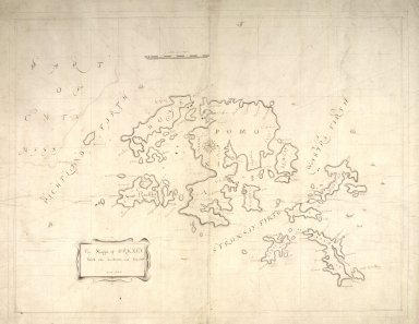 The Mappe of Orkney with the harbours and Islands. [1 of 1]