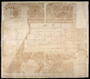 Plan of Sr Robert Gordons Improvements at Dallas [with] the Design of a Large Wilderness to be pla[nted] [1 of 1]