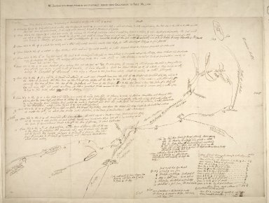 MS Diagram with description of the proposed roads from Callander to Fort William. [1 of 1]