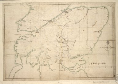 [Map showing the intended military roads joining up Stirling with Fort Augustus] [1 of 1]