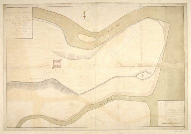 Plan of the Barracks of Killiwhymen [Fort Augustus] / and of the Ground about it [1 of 1]
