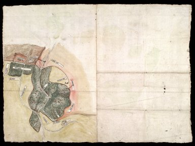 [Plan of Arniston (Harnstoune) and Shank (Schanck) with enlarged plan of Castleton on reverse, relative to action Dundas v. Elphinstoun, 1586] [2 of 2]