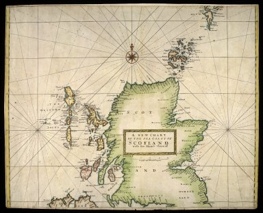 A new chart of the sea coast of Scotland with the islands thereof. [1 of 1]
