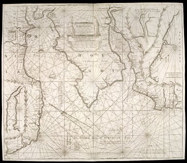 Nieuwe en seer perfecte paskaart van Schotlandt. ... van Berwyk tot Bokannais [1 of 1]