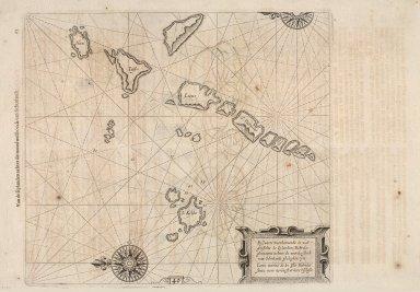 Pascaarte, verthoonende in wat ghestalte de Eylanden (Hebrides ghenaemt) achter de noordwesthoek van Schotlandt gheleghen zyn [1 of 2]