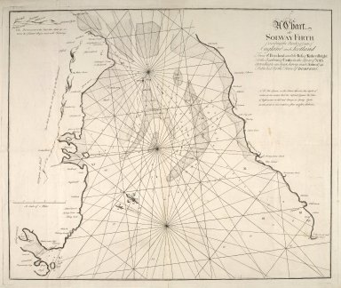 A chart of Solway Firth describing the banks & coasts of England and Scotland from St. Beeshead and the Ross of Kirkcudbright to the harbour of Carse in the river of Nith according to an exact survey made anno 1742. [1 of 1]