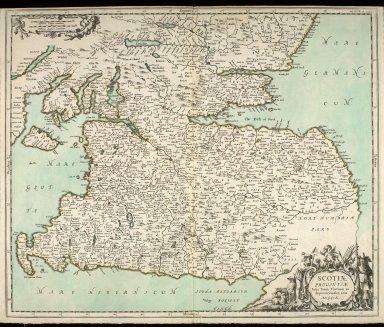 Scotiae provintiae inter Taum Fluvium, et septentrionales oras Angliae. [1 of 1]