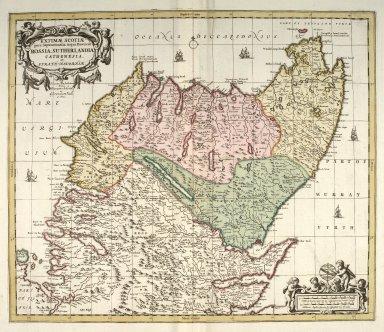 Extimae Scotiae pars Septentrionalis in qua Provinciae Rossia, Sutherlandia, Cathenesia, et Strath-Naverniae. [1 of 1]